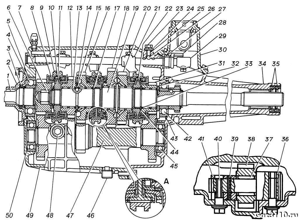 газ 3110 коробка передач схема