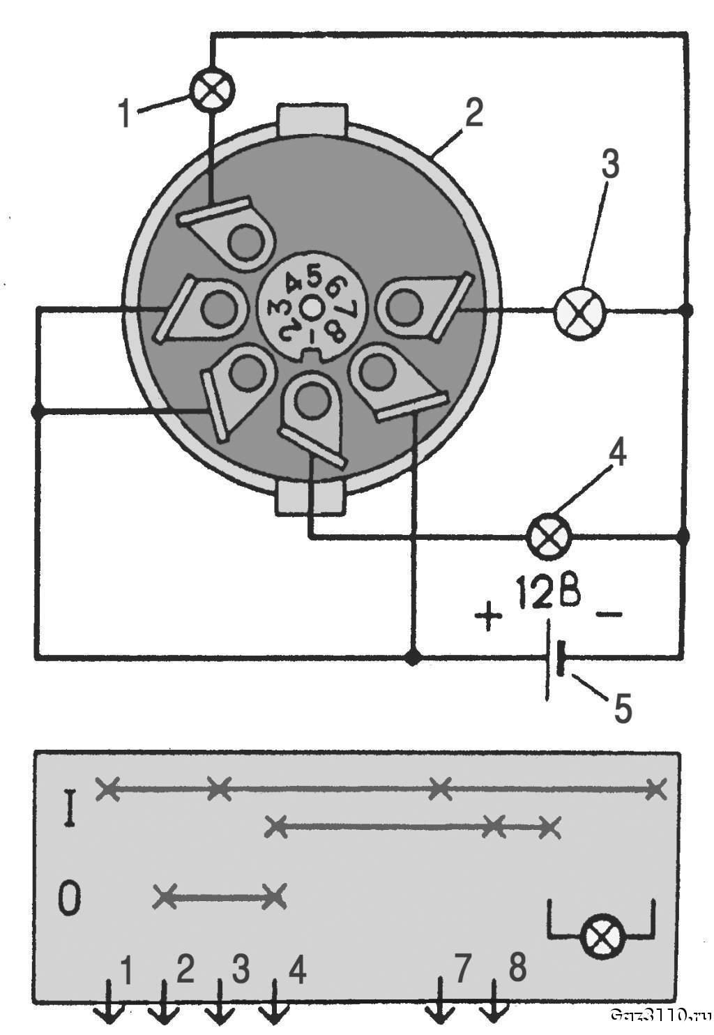 При движении задним ходом, выключатель света заднего хода автоматически включает свет при движении.