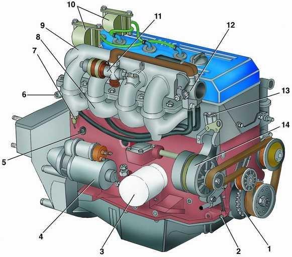 Схема двигателя 4216 газель фото 751