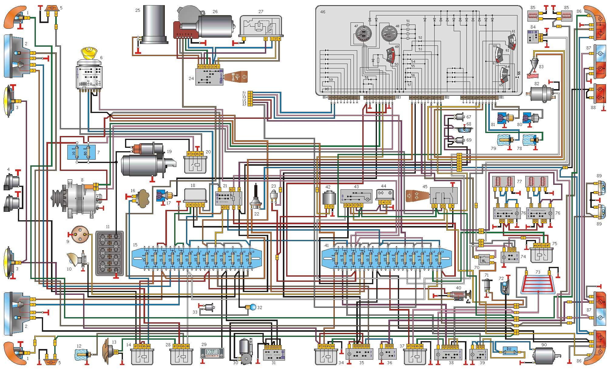 схема отопления газ31105