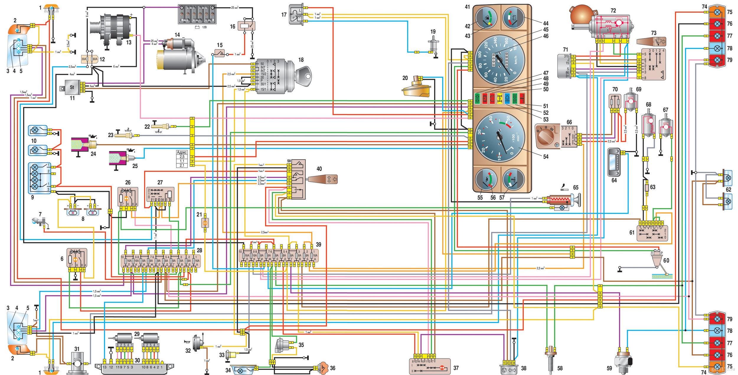 Схема подключения датчиков двигателя газель 406 карбюратор